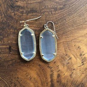 Kendra Scott Clear Grey Earrings